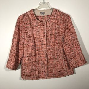 J. Jill Colorful Tweed Jacket with Pockets SZ XL